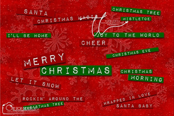 Merry Christmas word art 1